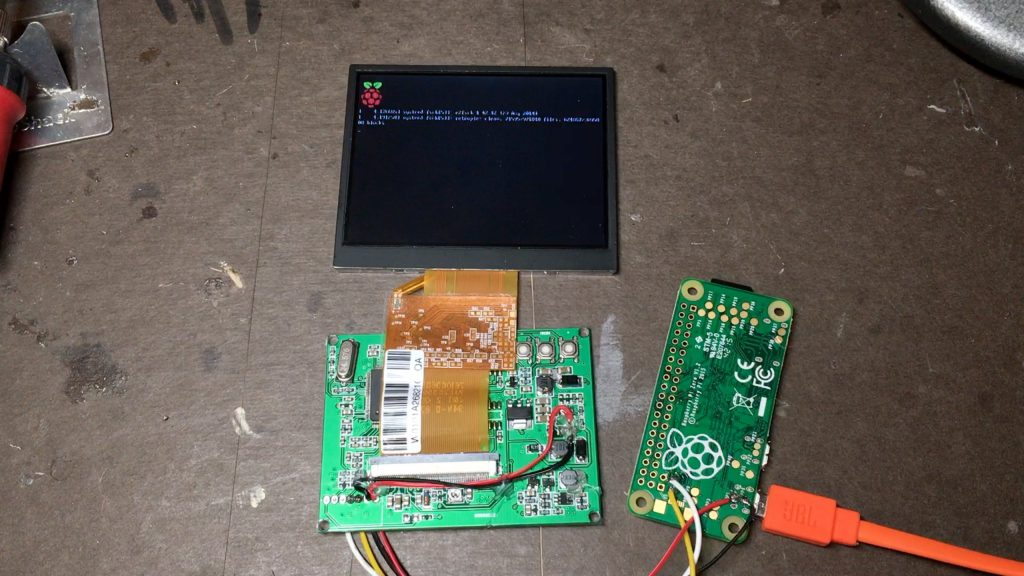 Pi screen booting